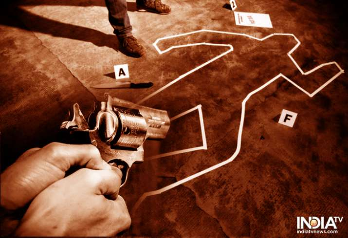 The horrific murder has been caught on CCTV