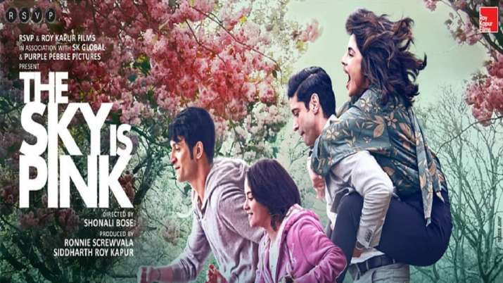 The Sky Is Pink poster featuring Priyanka Chopra shows a