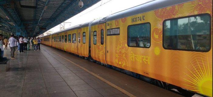 India' first private train Tejas Express trial run begins