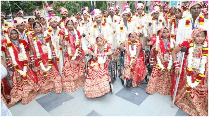 Bliss! Mass wedding pictures of 51 differently-abled
