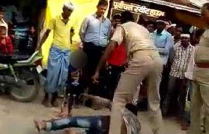 WATCH | UP cops thrash, drag man for alleged traffic violation as terrified child looks on