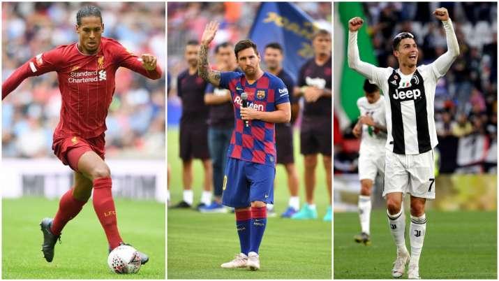 Liverpool defender Virgil van Dijk joins Lionel Messi and