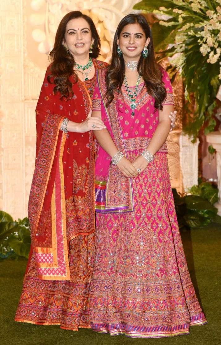 India Tv - Nita Ambani and her daughter Isha Ambani