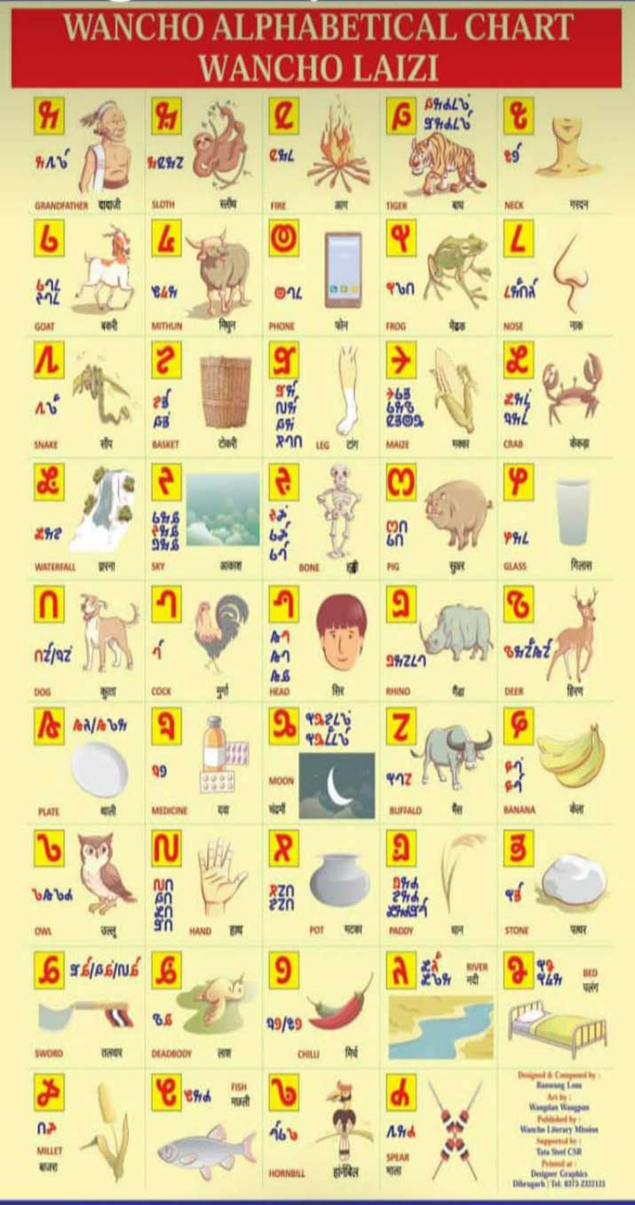 India Tv - The Wancho script has 44 letters: 15 vowels and 29 consonants.
