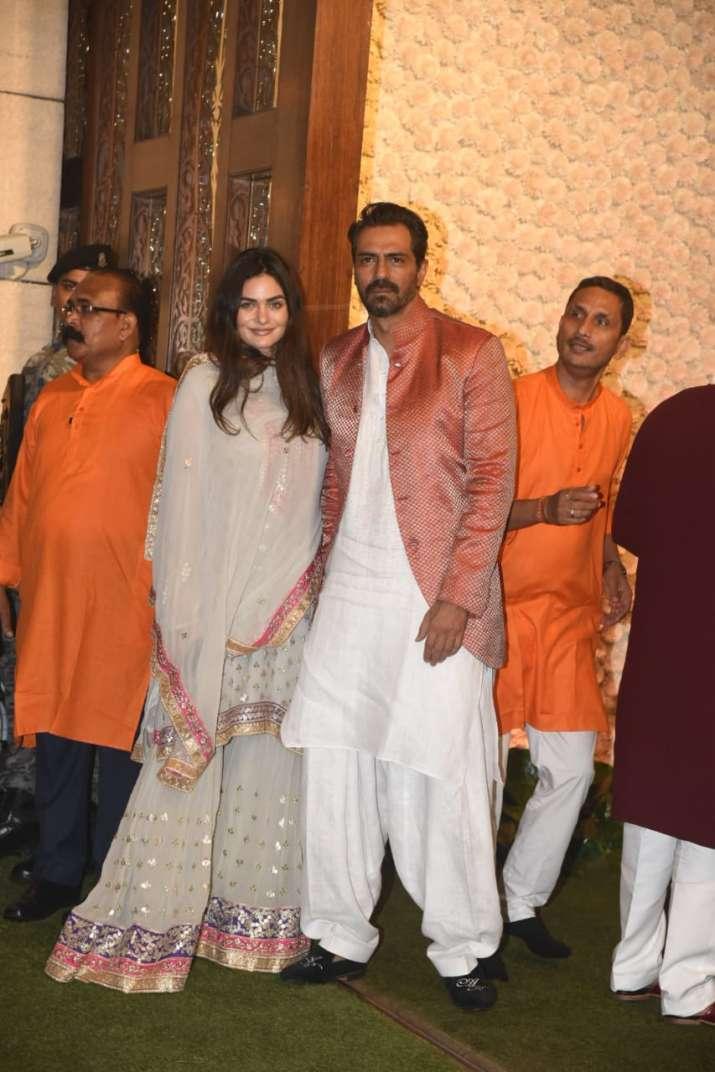 India Tv - Arjun Rampal arrived with his girlfriend Gabriella Demetriades for the celebrations