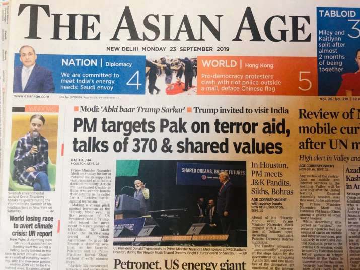 India Tv - The Asian Age