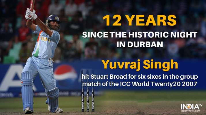 India Tv - Yuvraj Singh scored 50 off 12 balls