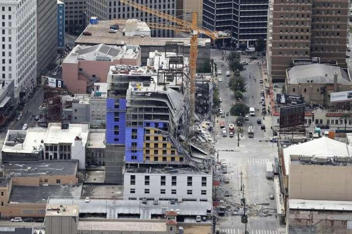 India Tv - Hard Rock hotel under construction in New Orleans collapses, one dead