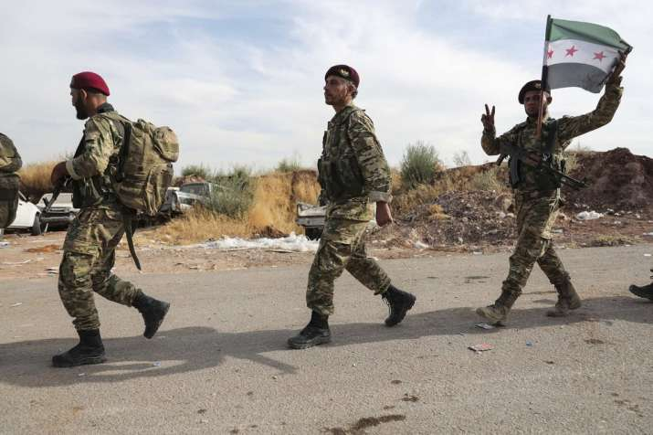 India Tv - 100,000 flee homes as Turkey advances in northern Syria, US troops come under fire
