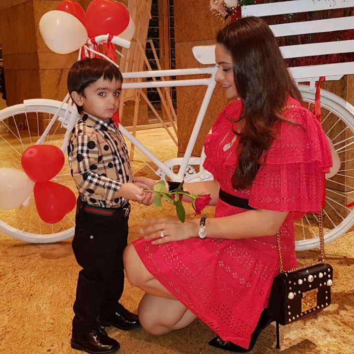 India Tv - Komolika aka Aamna Sharif and son photos