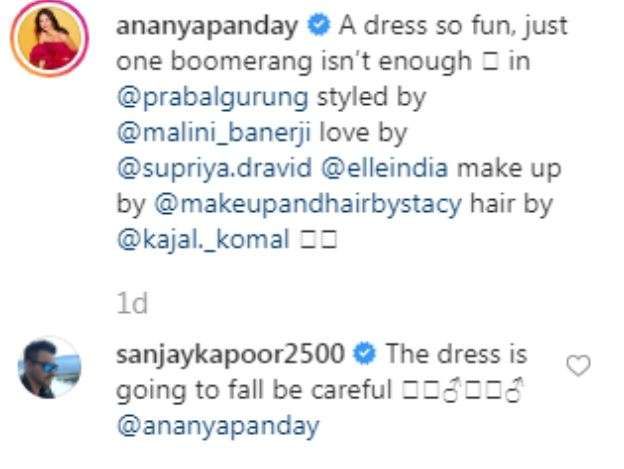 India Tv - Sanjay Kapoor's comment on Ananya's post.