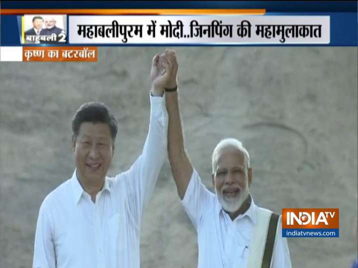 India Tv - PM Modi and Xi Jinping on first day of the informal meeting
