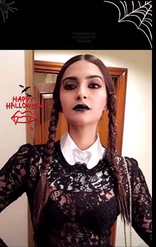 India Tv - Sonam Kapoor shares spooky pictures on Halloween day.