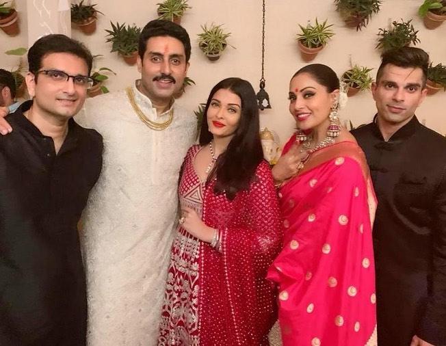 India Tv - Aishwarya Rai, Abhishek Bachchan with Bipasha Basu and Karan Singh Grover