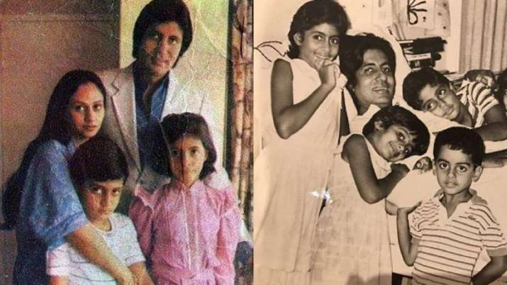 India Tv - Old pictures of Amitabh Bachchan and wife Jaya Bachchan with their kids