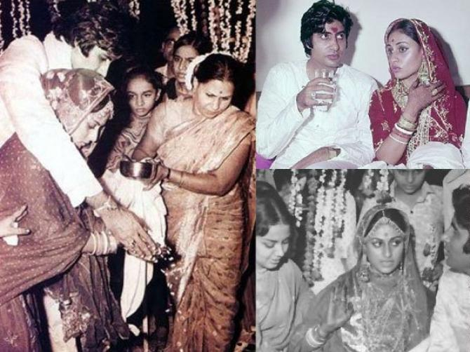 India Tv - Amitabh Bachchan and wife Jaya Bachchan wedding photos