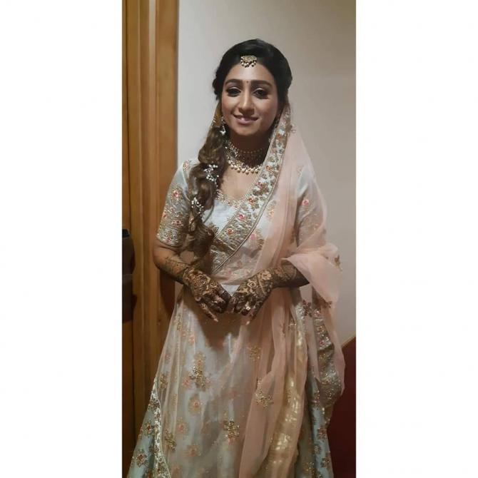 India Tv - Mohena's sangeet look