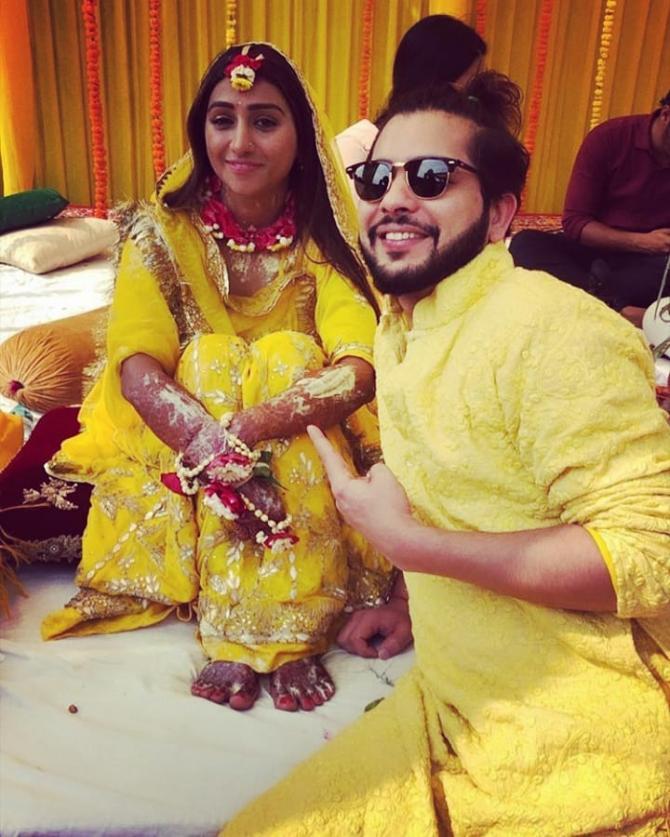 India Tv - Mohena Kumari Singh pre-wedding ceremony