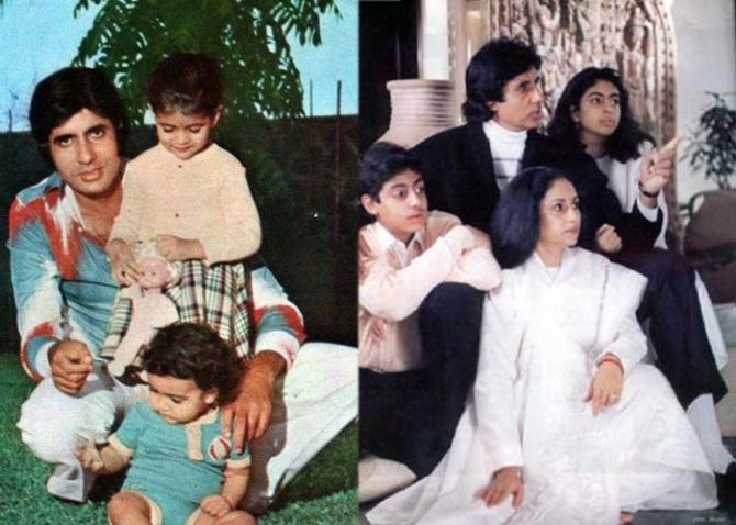 India Tv - Throwback pictures of Amitabh Bachchan with his kids