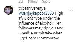 India Tv - Netizens argue over Sanjay Kapoor's comment on Ananya's post