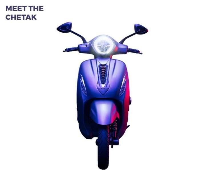 India Tv - Bajaj Chetak Electric Scooter Front