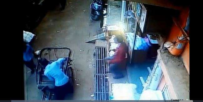 Lucky escape: Child falls off balcony, lands on seat of passing rickshaw | Watch video