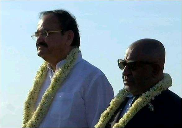 Vice-President Venkaiyyah Naidu with President of Comoros,