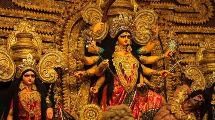 MP govt directs for Durga idols immersion through cranes