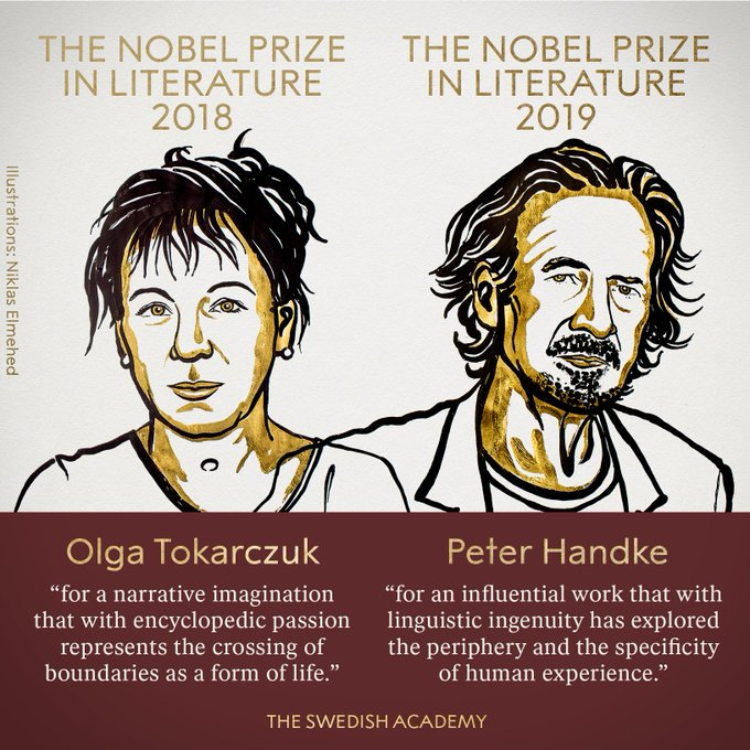 Breaking: Nobel Prize in Literature for 2018, 2019 announced