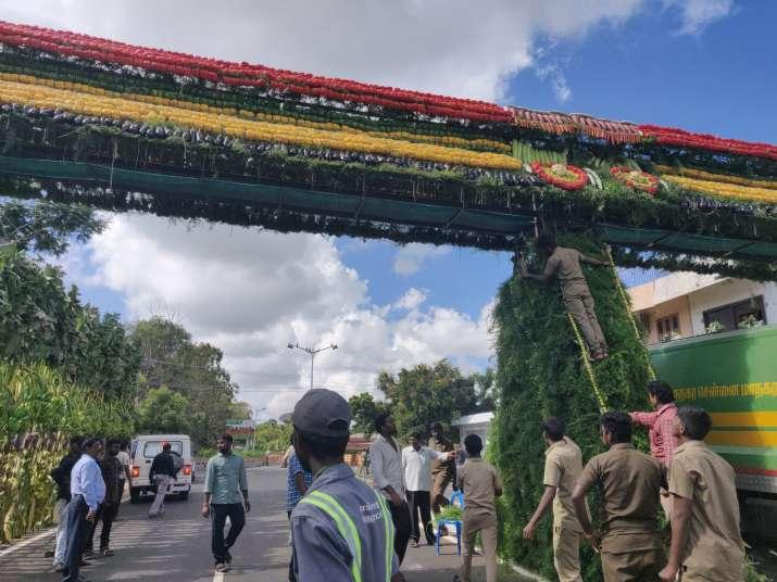 India Tv - Mahabalipuram decked up to welcome Chinese President Xi Jinping