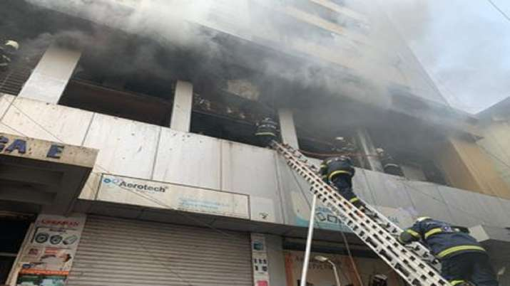 Fire breaks out at Aditya Arcade building in Mumbai