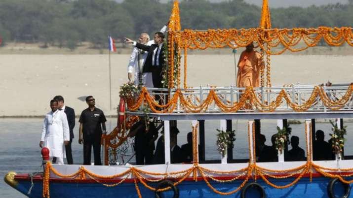 India Tv - PM Modi with French President Emmanuel Macron visited Varanasi and Mirzapur