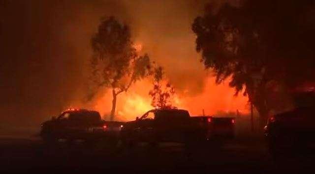 Fire in Los Angeles.