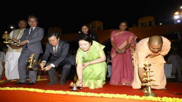 India Tv - First Lady of South Koreawitnessed Diwali celebrations in Uttar Pradesh's Ayodhya