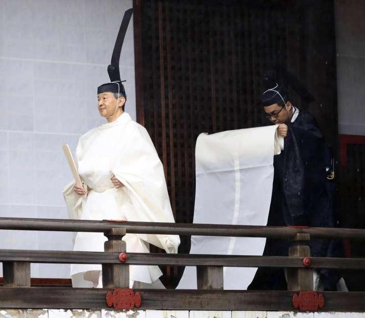 India Tv - Japanese Emperor Naruhito ascends Chrysanthemum Throne