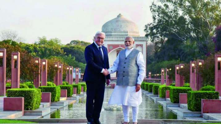 India Tv - German President Frank Walter visited Varanasi, Sarnath and Chennai