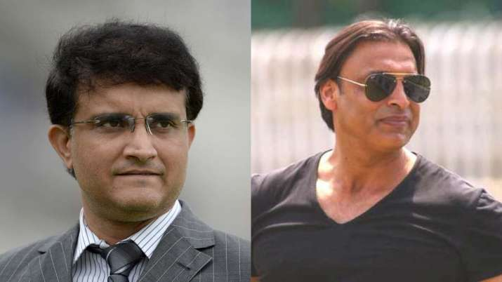 Sourav Ganguly and Shoaib Akhtar