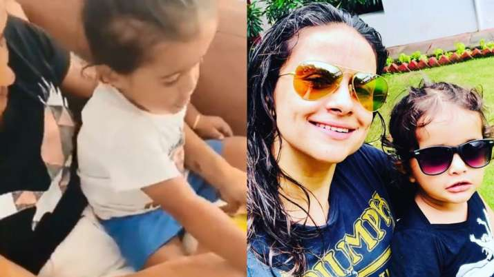 PM Modi reacts as Gul Panag's 1-year-old son Nihaal spots him