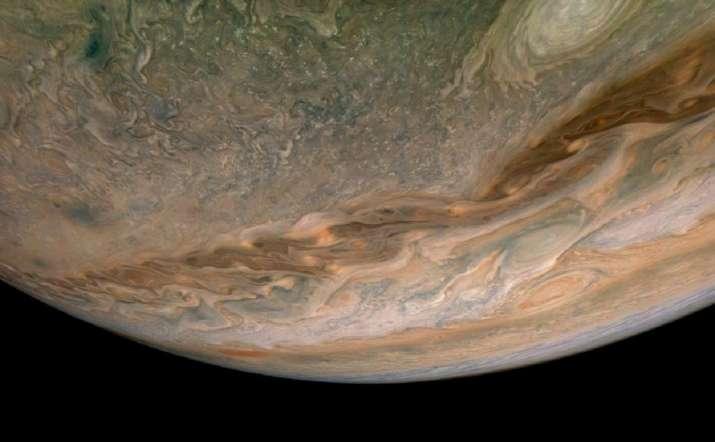 NASA captures swirling clouds on Jupiter