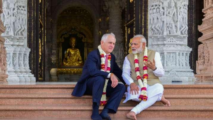 India Tv - Former Australian Prime Minister Malcolm Turnbull visited Akshardham Temple in Delhi