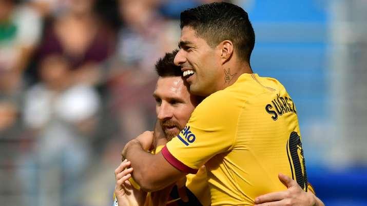 La Liga: Messi, Suarez, Griezmann score together for first time as Barcelona beat Eibar 3-0