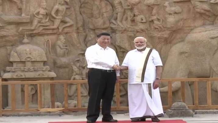 In Tamil Nadu, PM Modi dons 'veshti' to welcome Chinese
