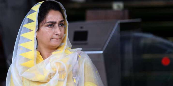Harsimrat Kaur Badal resigns Union Cabinet in protest against farm bills, says 'proud to stand with