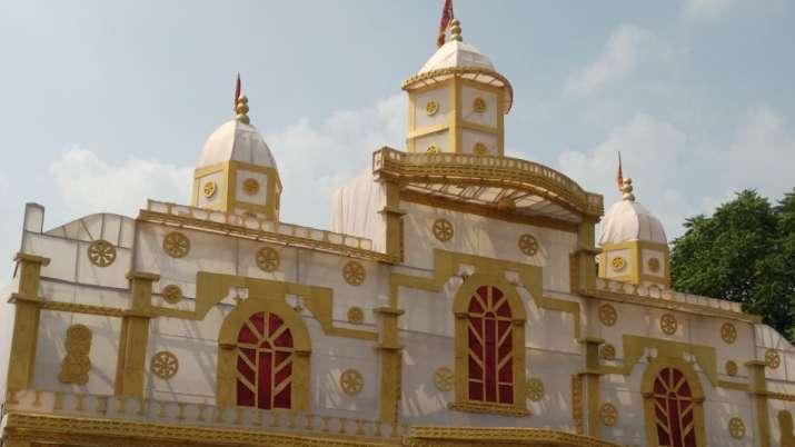 Eco-friendly Durga Puja pandal in Gurugram