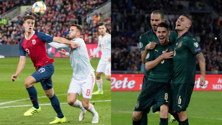 Euro 2020 qualifiers: Norway hold Spain, Italy beat Greece to qualify