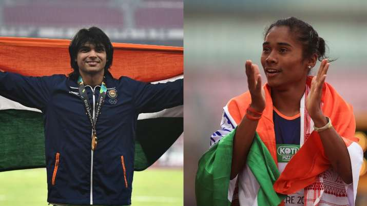 Neeraj Chopra and Hima Das