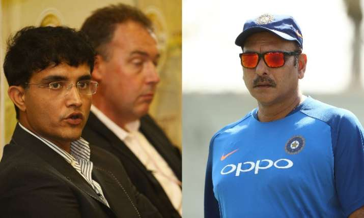 IND vs BAN, Day-Night Test: Sourav Ganguly inspects Eden wicket, Ravi Shastri follows suit