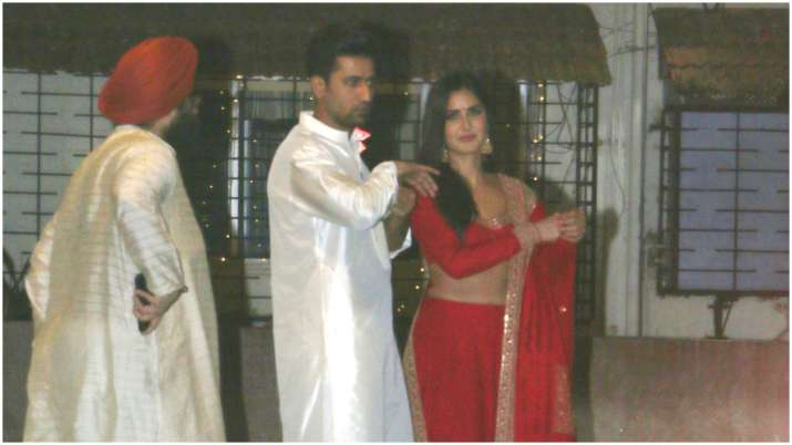 Vicky Kaushal and Katrina Kaif attend Diwali party