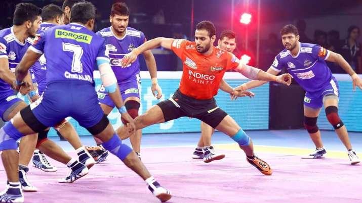U Mumba in action against Haryana Steelers