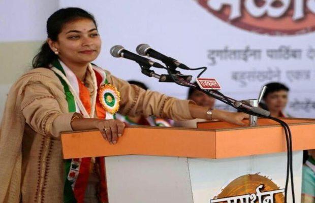 Praniti Sushilkumar Shinde contested 2019 Maharashtra assembly elections from Solapur Central